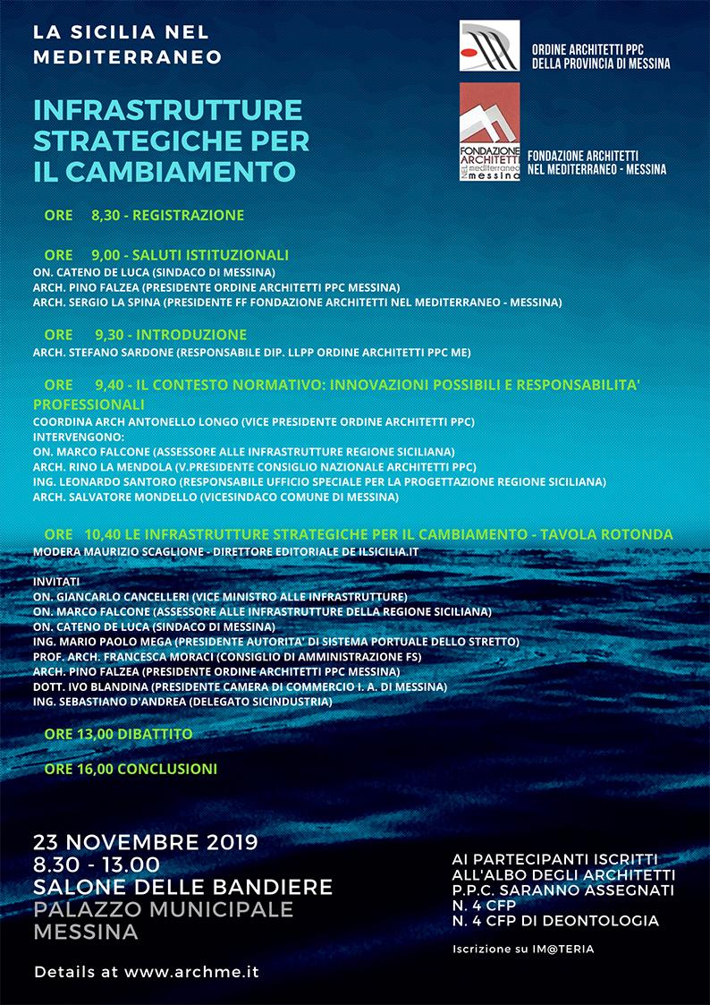 Albo Architetti Messina la sicilia nel mediterraneo-infrastrutture strategiche per